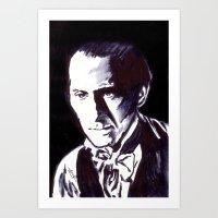 The Gentle Man Of Horror Art Print