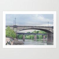 Dillingham Street Bridge Art Print