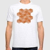 Escher #002 Mens Fitted Tee Ash Grey SMALL