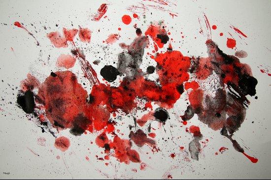 Acryl-Abstrakt 29 Art Print