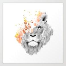 If I roar (The King Lion) Art Print
