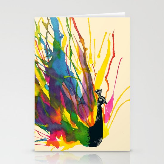 Colorful Peacock Stationery Card