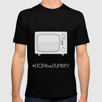 STOPtheSTUPIDITY Mens Fitted Tee Black SMALL