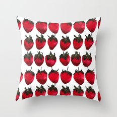 little strawberries Throw Pillow