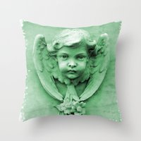 ColnaCherub Throw Pillow