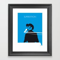No039 MY STEVIE WONDER Minimal Music poster Framed Art Print