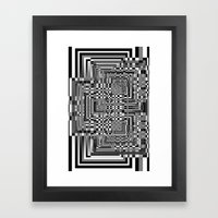 Pixel Shadow Framed Art Print