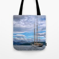 Schooner on the River Clyde Tote Bag