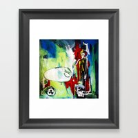 Fear of the Unknown Framed Art Print