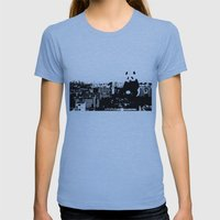 Giant Panda Invades Toa … Womens Fitted Tee Athletic Blue SMALL