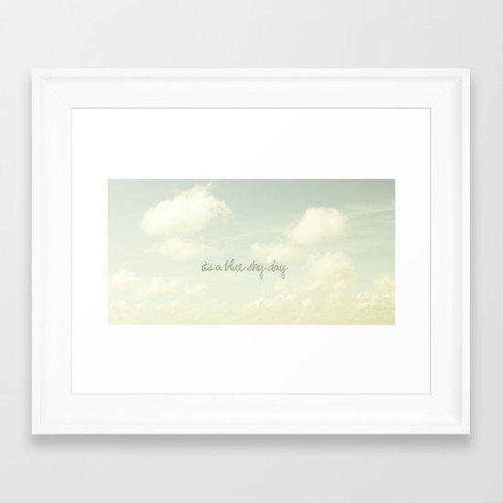 Its a blue sky day II Framed Art Print