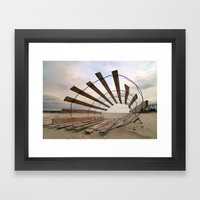 Roll Play Framed Art Print