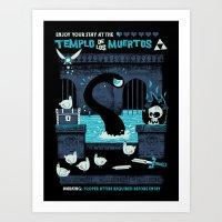 Templo De Los Muertos Art Print