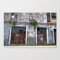 Old Sicilian Facade Of T… Canvas Print
