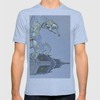 Big Ben And Boadicea Mens Fitted Tee Athletic Blue SMALL