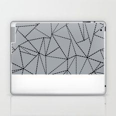 Ab Dotted Lines B on Grey Laptop & iPad Skin
