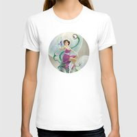 Astro Babe Womens Fitted Tee White SMALL