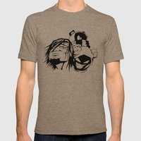 Content with KAOS characters Mens Fitted Tee Tri-Coffee SMALL