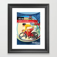 UCI Melbourne World Cycl… Framed Art Print