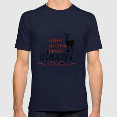Harry Potter Severus Snape After all this time? - Always. Mens Fitted Tee Navy SMALL