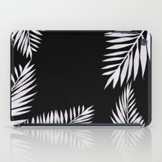 Watercolor tropical palm leaves black iPad Case