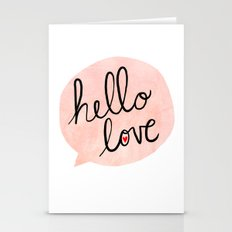 Hello Love Stationery Cards