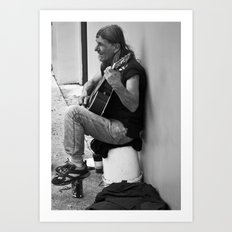 Homeless in St. Augustine Art Print