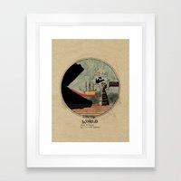 Sea monsters eat all travelers Framed Art Print
