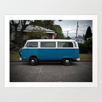slurpy blue (Curbside VW photo series) Art Print
