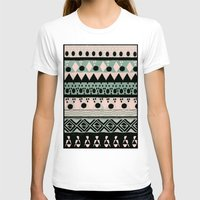 PASTEL NORDIC TRIBAL  Womens Fitted Tee White SMALL