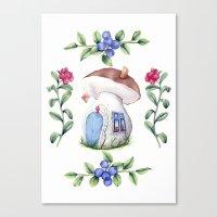 Mushroom House Canvas Print