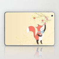 Fox apple picking Laptop & iPad Skin