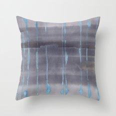 Grey Rain Throw Pillow