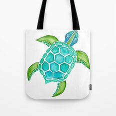 Watercolor Sea Turtle Tote Bag