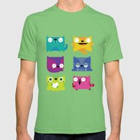 Cats Mens Fitted Tee Grass SMALL
