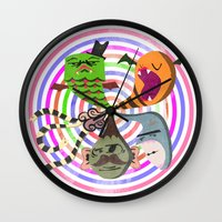 scary makes you happy Wall Clock