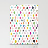 fava 5 sq Stationery Cards