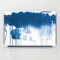 Paint 1 - indigo blue drip abstract painting modern minimal trendy home decor dorm college art iPad Case