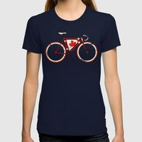 Love Bike, Love Canada Womens Fitted Tee Navy SMALL