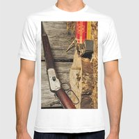 Winchester Model 53 Mens Fitted Tee White SMALL