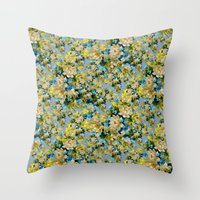 Sea Of Flowers Throw Pillow