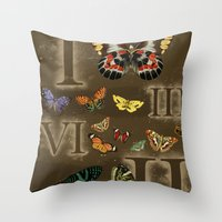 Let's Count Butterflies Throw Pillow