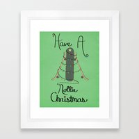 Nollie Christmas Framed Art Print