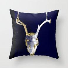Skull Dye Throw Pillow