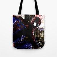 Spiderman In London Clos… Tote Bag