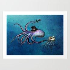 Underwater Love // Octop… Art Print