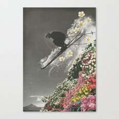 Spring Skiing Canvas Print