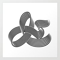 Eye bending Ampersand. Art Print