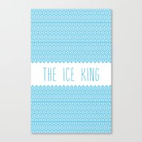 The Ice King Pattern...m… Canvas Print