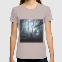 Blue Mystic ForesT Womens Fitted Tee Cinder SMALL
